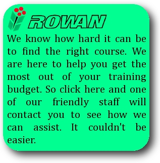 Rowan will contact you regarding your training requirements